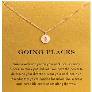 Jewelry - Compass necklace - rose gold- new